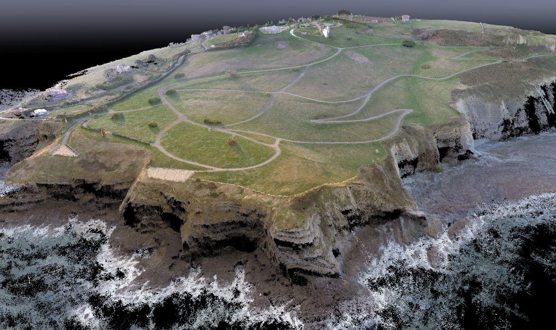 Nube de puntos generada con drones en Asturias