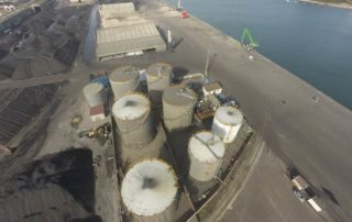 Imágen aérea del Puerto de Avilés